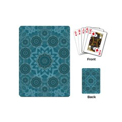 Wood And Stars In The Blue Pop Art Playing Cards (mini)  by pepitasart