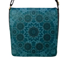 Wood And Stars In The Blue Pop Art Flap Messenger Bag (l)  by pepitasart