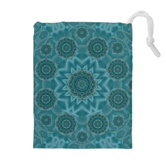 Wood And Stars In The Blue Pop Art Drawstring Pouches (extra Large) by pepitasart