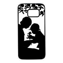 Mother and child Cameo Samsung Galaxy S7 Black Seamless Case by TailWags
