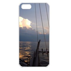 Sailing Into The Storm Apple Iphone 5 Seamless Case (white) by oddzodd
