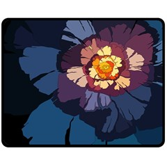 Flower Fleece Blanket (medium)  by oddzodd