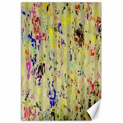 Paint Strokes On A Wood Background                    Canvas 20  X 30  by LalyLauraFLM
