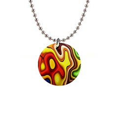 Colorful 3d Shapes                     1  Button Necklace by LalyLauraFLM