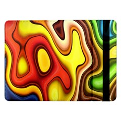 Colorful 3d Shapes               Samsung Galaxy Tab Pro 10 1  Flip Case by LalyLauraFLM
