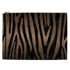 Skin4 Black Marble & Bronze Metal (r) Cosmetic Bag (xxl) by trendistuff
