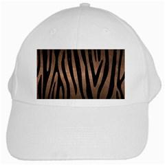 Skin4 Black Marble & Bronze Metal White Cap by trendistuff