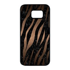 Skin3 Black Marble & Bronze Metal Samsung Galaxy S7 Edge Black Seamless Case by trendistuff