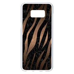 Skin3 Black Marble & Bronze Metal Samsung Galaxy S8 Plus White Seamless Case
