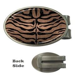 Skin2 Black Marble & Bronze Metal (r) Money Clip (oval) by trendistuff