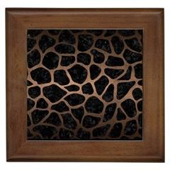 Skin1 Black Marble & Bronze Metal (r) Framed Tile by trendistuff