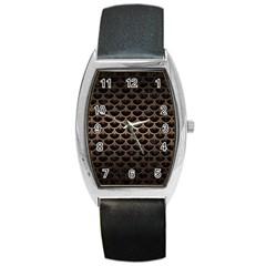 Scales3 Black Marble & Bronze Metal Barrel Style Metal Watch by trendistuff