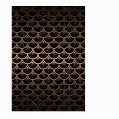Scales3 Black Marble & Bronze Metal Large Garden Flag (two Sides) by trendistuff