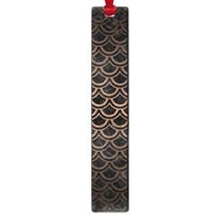 Scales2 Black Marble & Bronze Metal Large Book Mark by trendistuff