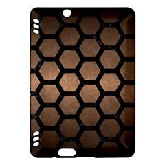 Hexagon2 Black Marble & Bronze Metal (r) Kindle Fire Hdx Hardshell Case by trendistuff