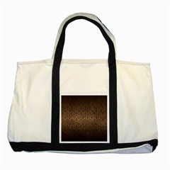 Hexagon1 Black Marble & Bronze Metal (r) Two Tone Tote Bag by trendistuff