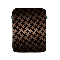 Houndstooth2 Black Marble & Bronze Metal Apple Ipad 2/3/4 Protective Soft Case by trendistuff