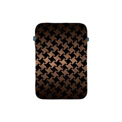 Houndstooth2 Black Marble & Bronze Metal Apple Ipad Mini Protective Soft Case by trendistuff