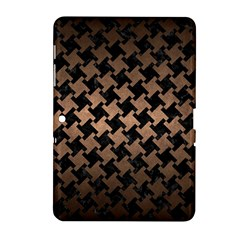Houndstooth2 Black Marble & Bronze Metal Samsung Galaxy Tab 2 (10 1 ) P5100 Hardshell Case  by trendistuff