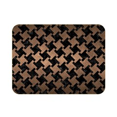 Houndstooth2 Black Marble & Bronze Metal Double Sided Flano Blanket (mini) by trendistuff