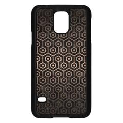 Hexagon1 Black Marble & Bronze Metal Samsung Galaxy S5 Case (black) by trendistuff