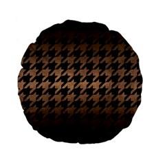 Houndstooth1 Black Marble & Bronze Metal Standard 15  Premium Flano Round Cushion  by trendistuff