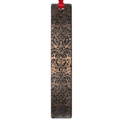 Damask2 Black Marble & Bronze Metal (r) Large Book Mark by trendistuff