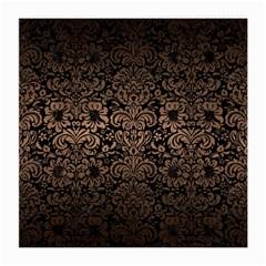 Damask2 Black Marble & Bronze Metal Medium Glasses Cloth (2 Sides) by trendistuff