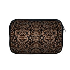 Damask2 Black Marble & Bronze Metal Apple Macbook Pro 13  Zipper Case by trendistuff