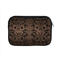 Damask2 Black Marble & Bronze Metal Apple Macbook Pro 15  Zipper Case by trendistuff