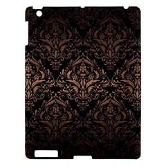 Damask1 Black Marble & Bronze Metal Apple Ipad 3/4 Hardshell Case by trendistuff