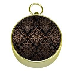 Damask1 Black Marble & Bronze Metal Gold Compass by trendistuff