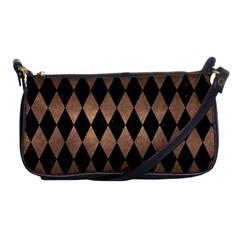 Diamond1 Black Marble & Bronze Metal Shoulder Clutch Bag by trendistuff