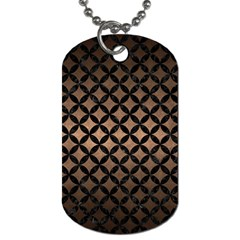 Circles3 Black Marble & Bronze Metal (r) Dog Tag (one Side) by trendistuff