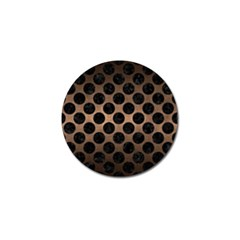 Circles2 Black Marble & Bronze Metal (r) Golf Ball Marker by trendistuff