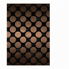 Circles2 Black Marble & Bronze Metal Small Garden Flag (two Sides) by trendistuff