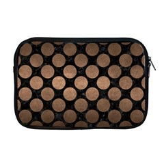 Circles2 Black Marble & Bronze Metal Apple Macbook Pro 17  Zipper Case by trendistuff