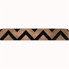 Chevron9 Black Marble & Bronze Metal (r) Small Bar Mat by trendistuff