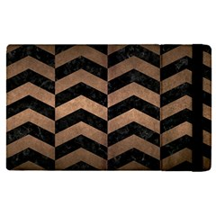 Chevron2 Black Marble & Bronze Metal Apple Ipad Pro 9 7   Flip Case