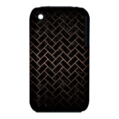 Brick2 Black Marble & Bronze Metal Apple Iphone 3g/3gs Hardshell Case (pc+silicone) by trendistuff