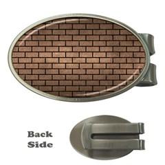 Brick1 Black Marble & Bronze Metal (r) Money Clip (oval) by trendistuff