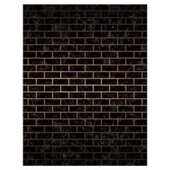 Brick1 Black Marble & Bronze Metal Drawstring Bag (large) by trendistuff