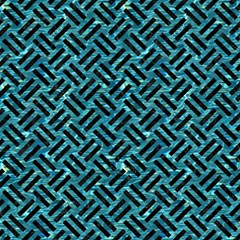 Woven2 Black Marble & Blue Green Water (r) Magic Photo Cube by trendistuff