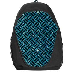 Woven2 Black Marble & Blue Green Water (r) Backpack Bag by trendistuff