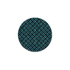 Woven2 Black Marble & Blue Green Water Golf Ball Marker (4 Pack) by trendistuff