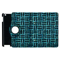 Woven1 Black Marble & Blue Green Water (r) Apple Ipad 2 Flip 360 Case by trendistuff