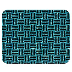 Woven1 Black Marble & Blue Green Water (r) Double Sided Flano Blanket (medium) by trendistuff