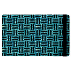 Woven1 Black Marble & Blue Green Water (r) Apple Ipad Pro 9 7   Flip Case by trendistuff