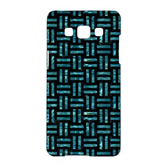 Woven1 Black Marble & Blue Green Water Samsung Galaxy A5 Hardshell Case  by trendistuff