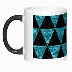 Triangle3 Black Marble & Blue Green Water Morph Mug by trendistuff